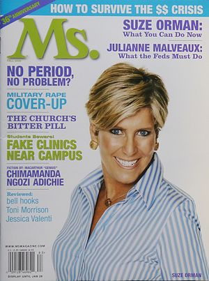 Suze Orman - Orman on the cover of Ms. magazine in 2008
