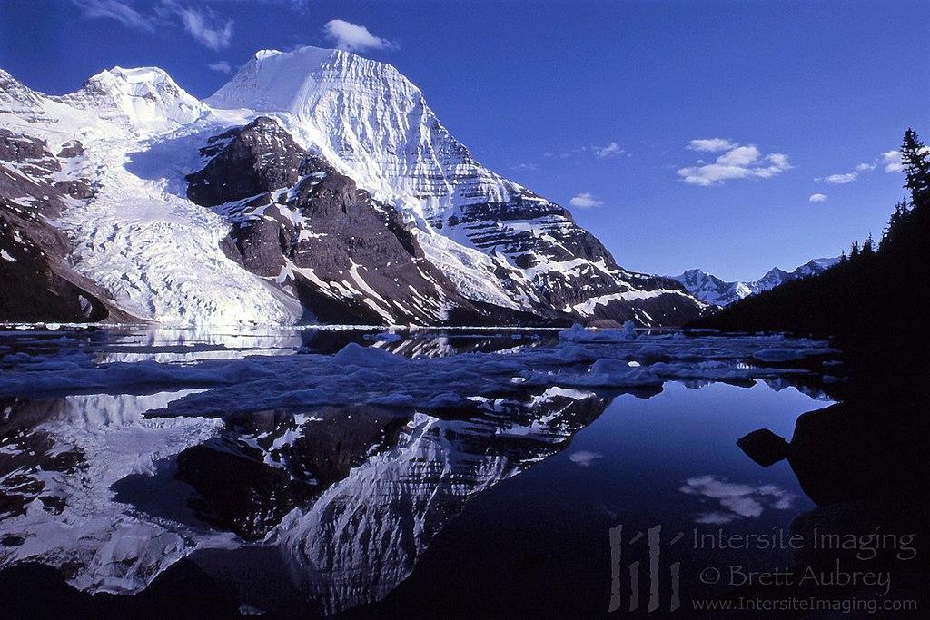 Mt. Robson from Berg Lake, reflected