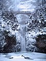 Multnomah Falls is nearly frozen (3177687503).jpg