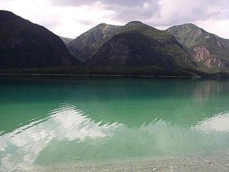 Terminal Range - Terminal Range and Muncho Lake seen from Alaska Highway