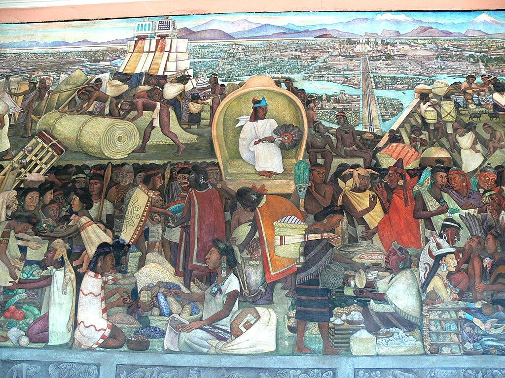 File murales rivera markt in tlatelolco for Diego rivera mural palacio nacional