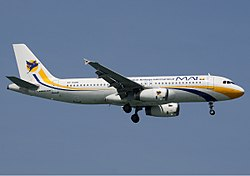 Airbus A320 der Myanmar Airways International
