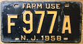 NEW JERSEY 1958 -FARM TRUCK LICENSE PLATE - Flickr - woody1778a.jpg