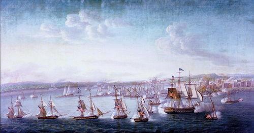 エドワードプレブル提督の下での米海軍の遠征隊。