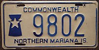 NORTHERN MARIANA ISLANDS passenger license plate 1978 Flickr - woody1778a.jpg