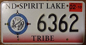 Vehicle registration plates of Native American tribes in the United States - Spirit Lake Tribe Devils Lake Sioux license plate