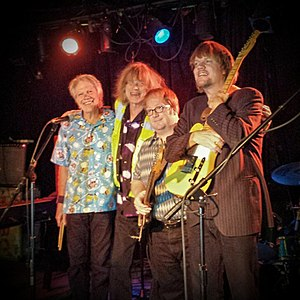 NRBQ - NRBQ at Jim Porter's Good Time Emporium, Louisville, KY, October 24, 2014 Left to right: Bobby Lloyd Hicks, Terry Adams, Casey McDonough and Scott Ligon