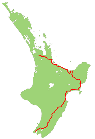 New Zealand State Highway 2 - Image: NZ SH2 map