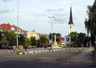 Nové Zámky - Main square of Nové Zámky