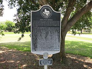 Nada, Texas - Image: Nada TX Post Office Marker