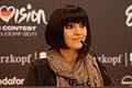 Nadine Beiler bei einer Pressekonferenz (ESC 2011).jpg
