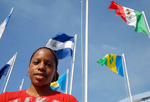 Haiti at the 2008 Summer Olympics - Nadine Faustin-Parker, who participated for Haiti in the 100 meters hurdles