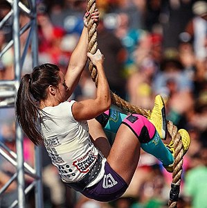 CrossFit Games - Camille Leblanc-Bazinet, 2014 Reebok CrossFit Games Champion, during the Thick 'n Quick event of the 2014 CrossFit Games