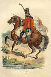 Napoleon Hussard by Bellange