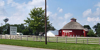 Nappanee, Indiana - Amish Acres, a popular tourist attraction in Nappanee.
