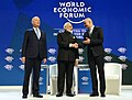 Narendra Modi with the President of the Swiss Confederation, Mr. Alain Berset and the Chairman of the World Economic Forum, Professor Klaus Schwab, at the plenary session of the World Economic Forum, in Davos (2).jpg