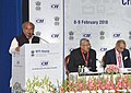 Narendra Singh Tomar addressing the Conference on Jobs & Livelihood Creation - Critical Growth Enablers, organised by the NITI Aayog and the CII, in New Delhi.jpg