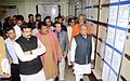 Narendra Singh Tomar visiting after inaugurating the Mineral Museum at IBM, in Bhubaneswar. The Union Minister for Tribal Affairs, Shri Jual Oram, the Minister of State for Petroleum and Natural Gas (Independent Charge).jpg