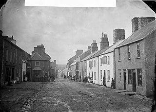 Narrow street, Llannerch-y-medd
