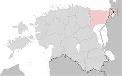 Location of Narva