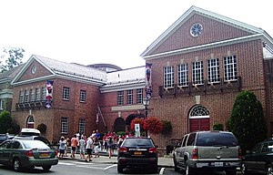 Doubleday myth - The National Baseball Hall of Fame is located in Cooperstown, the town where Doubleday was said to have invented baseball.