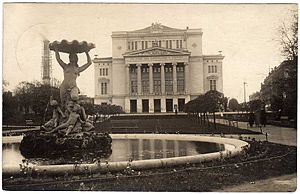 Latvian National Opera - National Opera House building in the early 20th century.