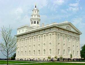 Temple (Latter Day Saints) - The Nauvoo Temple: built in 1846, destroyed soon after, and rebuilt in 2002