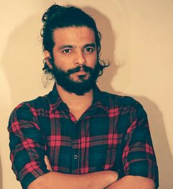 Neeraj Madhav during success party of the movie Adi Kapyare Koottamani.jpg