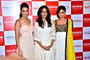 Neha Dhupia, Anita Dongre, Amrita Puri at '8th Annual Gemfields RioTinto Retail Jeweller India Awards 2012' meet 01.jpg
