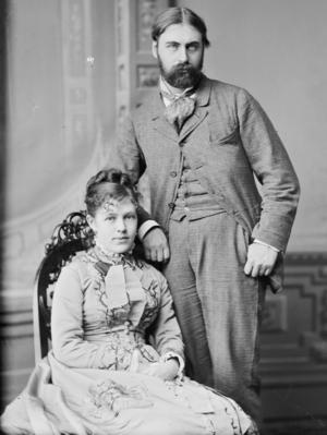 Nellie Grant - Nellie Grant and Algernon Charles Frederick Sartoris circa 1875 to 1880