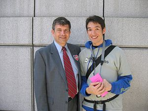 Michael Badnarik - Badnarik with a Creative Commons supporter at a gay pride parade in San Francisco on June 27, 2004.