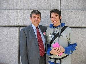 Michael Badnarik - Badnarik with a Creative Commons supporter at a gay pride parade in San Francisco on June 27, 2004.