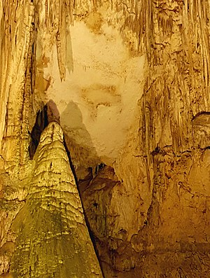 "Optical illusion - ""The Organ Player"" - Pareidolia phenomenon in Neptune's Grotto stalactite cave (Alghero, Sardinia)"
