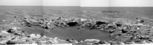 Nereus (crater) - Image: Nereus crater Mars (Opportunity) 2009 09 19