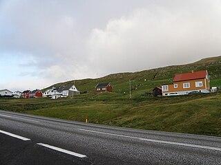 Nes, Vágur Village in Faroe Islands, Kingdom of Denmark