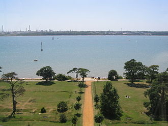 Borough of Eastleigh - The view over Southampton Water from the Royal Victoria Country Park
