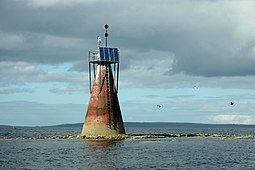 The navigation light on Nevi Skerry
