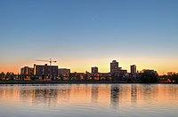 New Brunswick NJ Skyline at Sunset.jpg