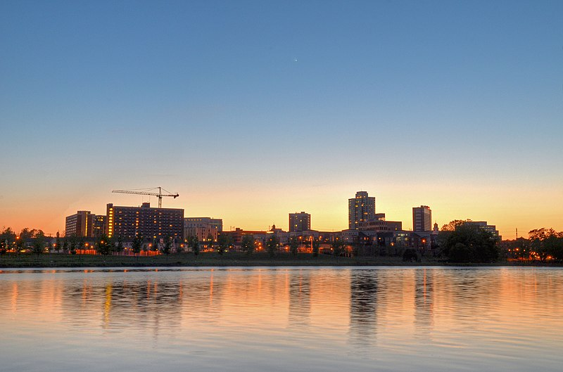 Fichier:New Brunswick NJ Skyline at Sunset.jpg