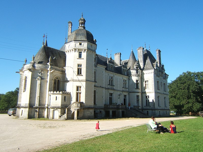 New Mayapur Hare Krishna community in the department of Indre in central France. The place is also known as Château d'Oublaisse.