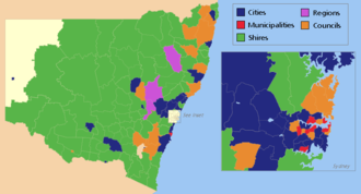 Local government areas of New South Wales - Types and titles of LGAs in New South Wales