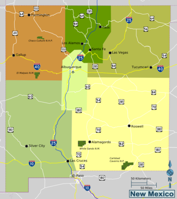 Pueblos New Mexico Map.New Mexico Travel Guide At Wikivoyage