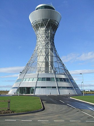 Hyperboloid - Image: Newcastle International Airport Control Tower
