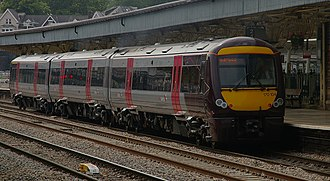 British Rail Class 170 - CrossCountry 170 104 at Newport, on a journey to Cardiff Central from Nottingham