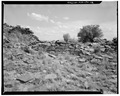 Next section of north wall, view towards south - Bee Burrow, Seven Lakes Wash, Crownpoint, McKinley County, NM HABS NM,16-CROPO.V,1-12.tif