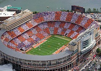 Neyland Stadium - Image: Neyland aerial view of checkerboard