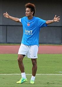 80c6155213 Neymar em um jogo amistoso.