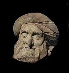 tête d'homme barbu au turban