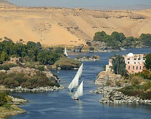 River Nile in Aswan