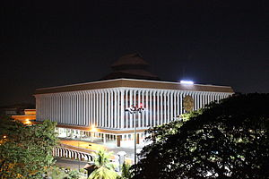 Niyamasabha Mandiram - Kerala State Legislative Assembly or the Niyamasabha in night